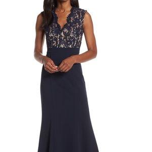 Eliza J | Lace Bodice Trumpet Evening Dress